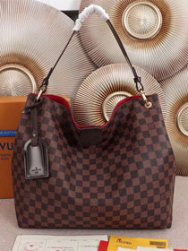 2018 louis vuitton original damier ebene graceful hobo mm N44045