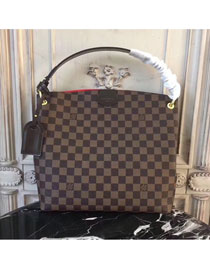 2018 louis vuitton original damier ebene graceful hobo pm N44044