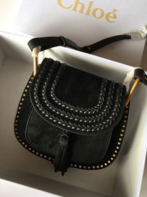 2018 latest Chloe hudson original suede leather bag CH001 black