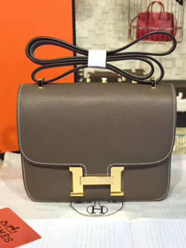 Hermes original epsom leather constance bag C23 dark gray