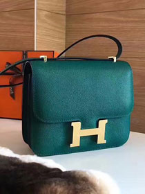 Hermes original epsom leather constance bag C23 olive
