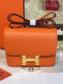 Hermes original epsom leather constance bag C23 orange