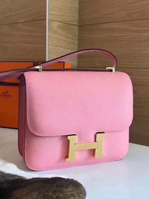 Hermes original epsom leather constance bag C23 pink
