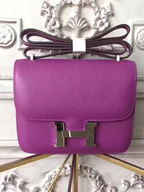 Hermes original epsom leather constance bag C23 purple
