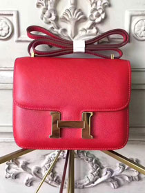 Hermes original epsom leather constance bag C23 red