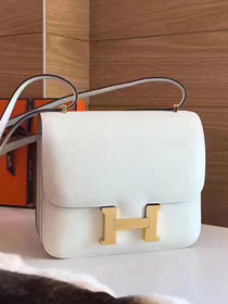 Hermes original epsom leather constance bag C23 white