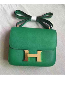 Hermes original epsom leather small constance bag C19 green