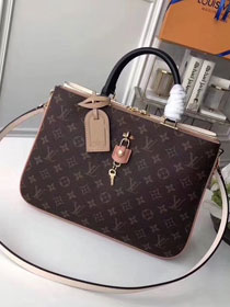 2018 louis vuitton original monogram canvas Millefeuille tote bag M44255 Khaki