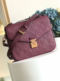 2017 louis vuitton original monogram empreinte pochette metis M43737 bordeaux