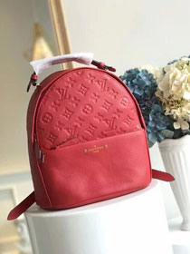 2018 louis vuitton original monogram empreinte Sorbonne backpack M44015 red