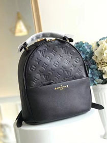 2018 louis vuitton original monogram empreinte Sorbonne backpack M44016 black