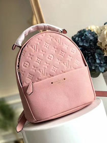 2018 louis vuitton original monogram empreinte Sorbonne backpack M44019 pink