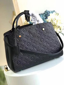 Louis vuitton original monogram empreinte montaigne mm M41048 black