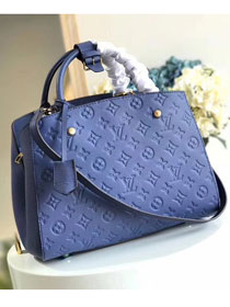 Louis vuitton original monogram empreinte montaigne mm M41048 blue