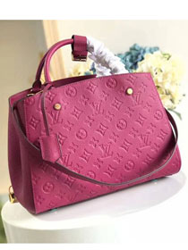 Louis vuitton original monogram empreinte montaigne mm M41048 bordeaux