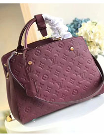 Louis vuitton original monogram empreinte montaigne mm M41048 burgundy