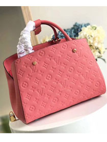Louis vuitton original monogram empreinte montaigne mm M41048 coral