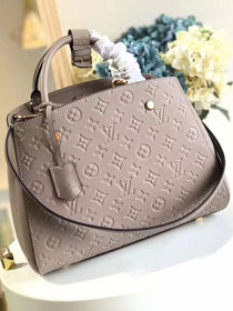 Louis vuitton original monogram empreinte montaigne mm M41048 gray