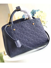 Louis vuitton original monogram empreinte montaigne mm M41048 navy blue
