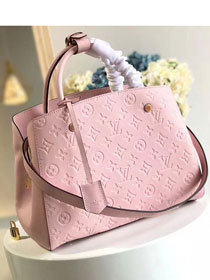 Louis vuitton original monogram empreinte montaigne mm M41048 pink