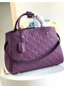 Louis vuitton original monogram empreinte montaigne mm M41048 purple