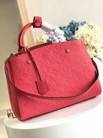 Louis vuitton original monogram empreinte montaigne mm M41048 red