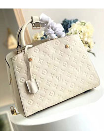 Louis vuitton original monogram empreinte montaigne mm M41048 white