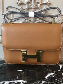 Hermes epsom leather constance 23 bag C230 coffee