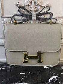 Hermes epsom leather constance 23 bag C230 gray