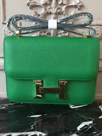 Hermes epsom leather constance 23 bag C230 green