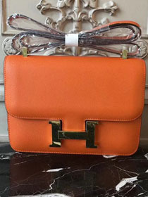 Hermes epsom leather constance 23 bag C230 orange