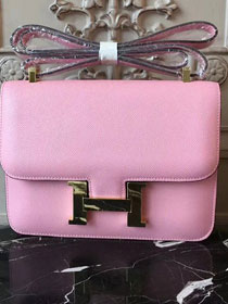 Hermes epsom leather constance 23 bag C230 pink