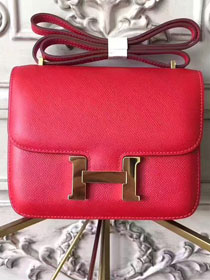 Hermes epsom leather constance 23 bag C230 red