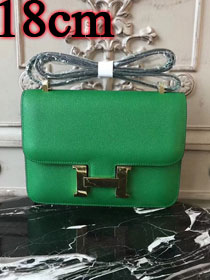 Hermes epsom leather small constance bag C19 green