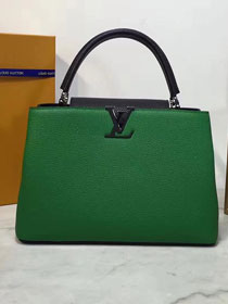 Louis vuitton original taurillon leather capucines mm M44813 green&black