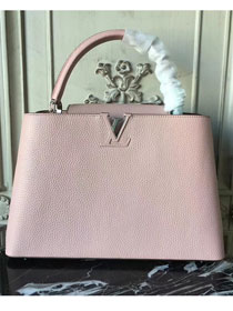 Louis vuitton original taurillon leather capucines pm M42237 pink