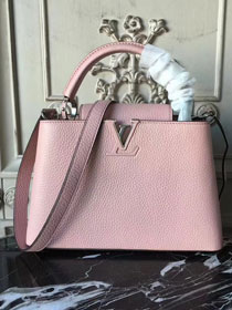 Louis vuitton original taurillon leather capucines pm M42245 pink