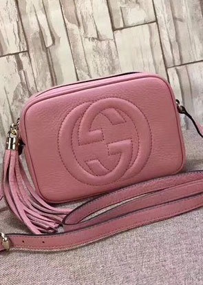 GG original calfskin leather shoulder bag 308364 pink
