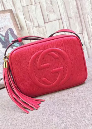GG original calfskin leather shoulder bag 308364 red