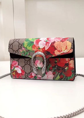 2018 GG original canvas dionysus blooms mini shoulder bag 476432 black