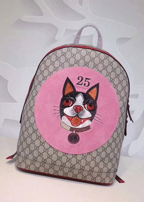 2018 GG soft supreme medium cat print backpack 505372 pink