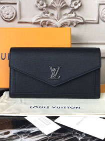 2018 louis vuitton original calfskin mylockme wallet M62530 black