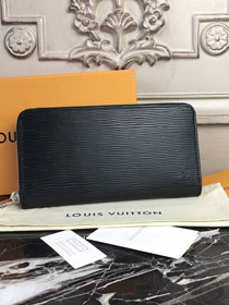 Louis vuitton original epi leather zippy wallet M62304 black