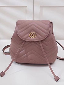 2018 GG marmont original matelasse leather backpack 528129 nude