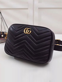 2018 GG original calfskin marmont matelasse belt bag 523380 black