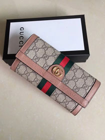 GG original canvas Ophidia continental wallet 523153 nude
