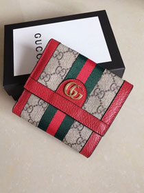 GG original canvas Ophidia wallet 523174 red