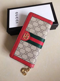 GG original canvas Ophidia zip around wallet 523154 red