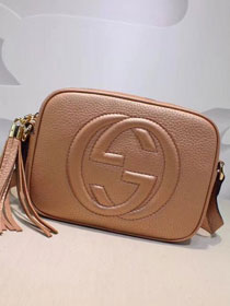GG original calfskin leather shoulder bag 308364 apricot