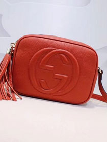 GG original calfskin leather shoulder bag 308364 orange